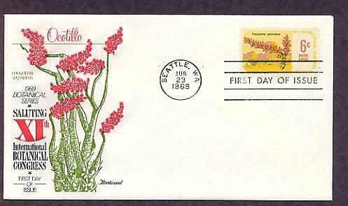 11th International Botanical Congress, Ocotillo, Fouqueria splendens, First Issue USA