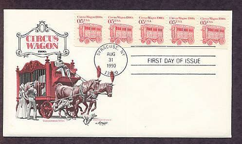 Horse Drawn Circus Wagon 1900s, First Issue USA
