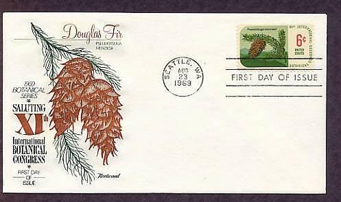 11th International Botanical Congress, Douglas Fir, Pseudotsuga menziesii, First Issue USA