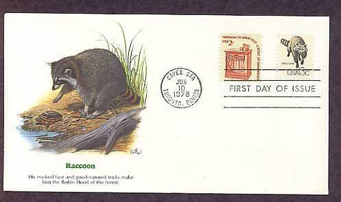 Raccoon, Wildlife that Shares the Border Between Canada and the USA, First Issue