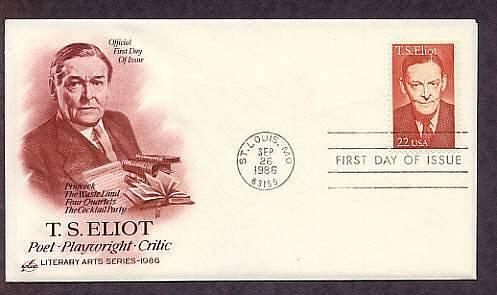 Honoring Nobel Prize Winner Writer, Poet, T. S. Eliot, AC First Issue USA