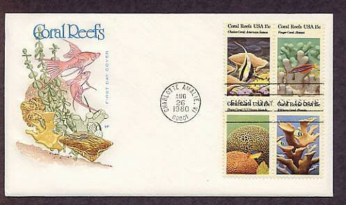 Coral Reefs, Tropical Fish, First Issue USA