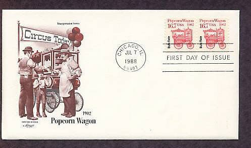 Popcorn Wagon 1902, First Issue USA