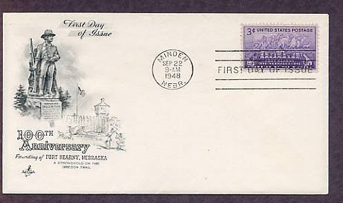 100th Anniversary of the Founding of Fort Kearny, Nebraska, 1948 First Issue USA