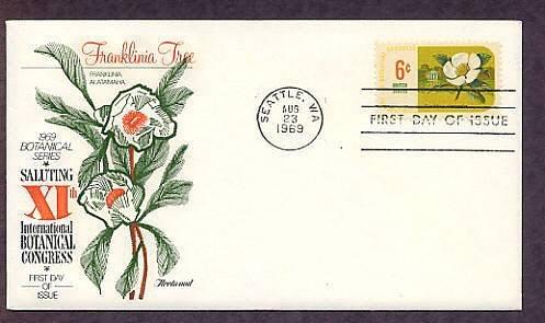 11th International Botanical Congress, Franklinia altamaha, First Issue USA