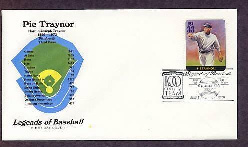 Pie Traynor , Baseball Legend, Third Base, First Issue USA