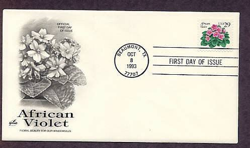 African Violet, First Issue USA