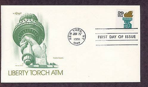 Statue of Liberty Torch, ATM,  First Issue USA