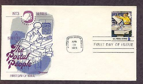 Honoring USPS Postal People, Mail Canceling, First Issue USA