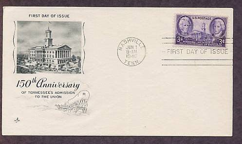 Tennessee Statehood, 150th Anniversary, 1946, First Issue USA