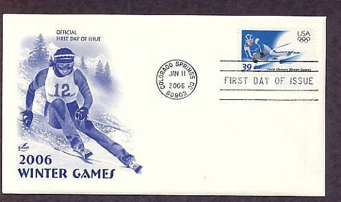 2006 Winter Olympics, Skier, First Issue USA