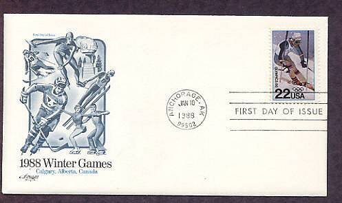 1988 Winter Olympics, Alpine Skier, AM First Issue USA