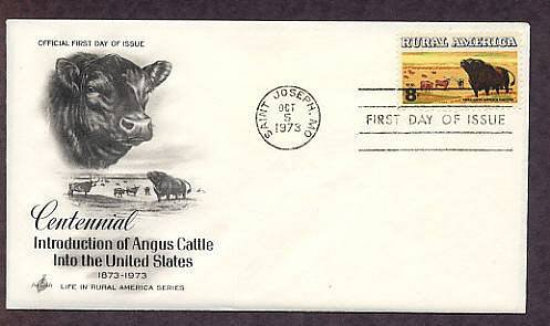 Aberdeen Black Angus Cattle, Western Beef, First Issue USA
