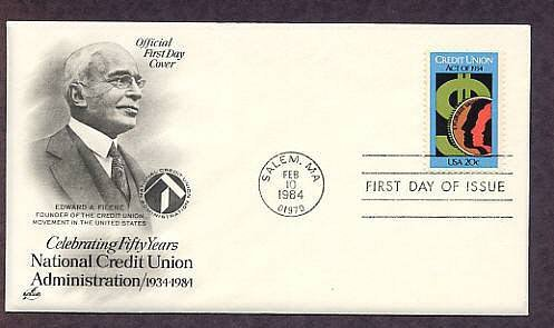 50th Anniversary of the Federal Credit Union Act, FDC First Issue USA