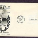 Honoring Cordell Hull, Secretary of State, Nobel Prize Winner, First Issue USA