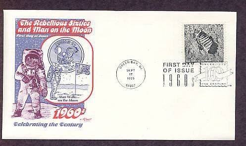 NASA Apollo 11, Space, Man on Moon, Footprint, First Day of Issue USA