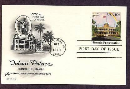 Iolani Palace, Honolulu, Hawaii First Issue USA