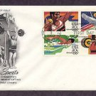 Summer Olympics 1984, Shot Put, Men's Gymnastics, Women's Swimming, Weight Lifting, First Issue USA
