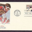 1980 Winter Olympic Games, Slalom Sking, Lake Placid, New York, First Issue USA
