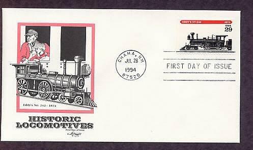 Antique Locomotives, Eddy's NO. 242, 1874, AM First Issue USA