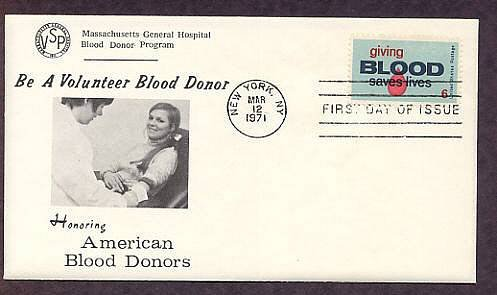 Blood Donors Saving Lives, Massachusetts General Hospital, First Issue USA