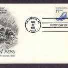 Alaskan Dog Sled, Huskies. Anchorage, Alaska, AC First Issue USA