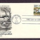 Louisiana World Exposition, Fresh Water as a Source of Life, Wildlife, AC First Issue USA