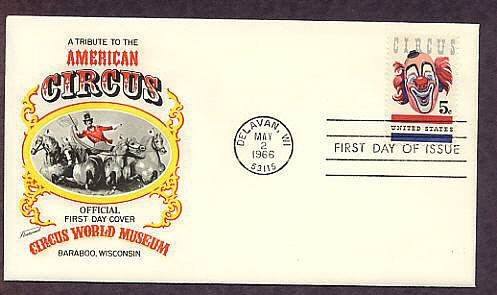 Clown, American Circus, 1966 Wisconsin First Issue  Fleetwood USA