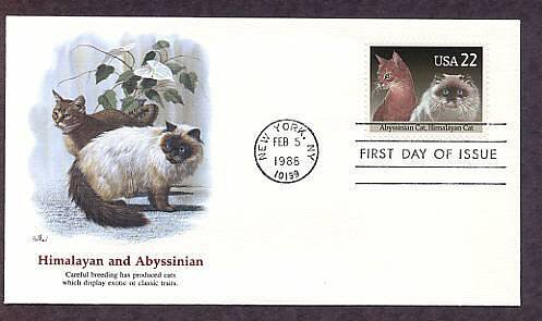 Cats, Abyssinian and Himalayan Cat, FW First Issue USA