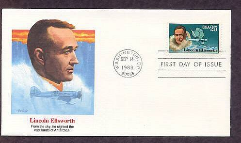 Antarctic Explorers, Lincoln Ellsworth, FW First Issue USA