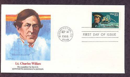 Antarctic Explorers, Lt. Charles Wilkes, FW First Issue USA