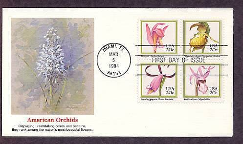 Native American Orchids, FW First Issue USA