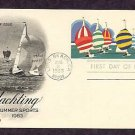 Olympics 1984, Yachting, Postal Card, First Issue USA