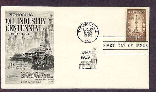 Petroleum Industry, Oil Derrick Drake Well, FW First Issue USA