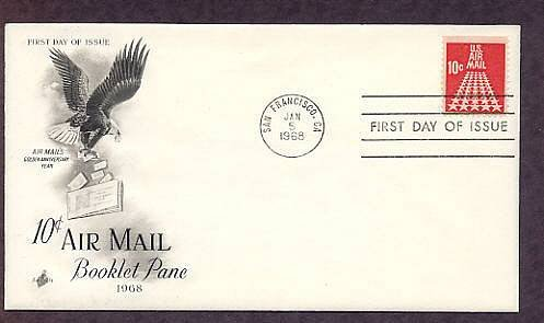 50 Star Runway, U.S. Air Mail, 1968 First Issue USA