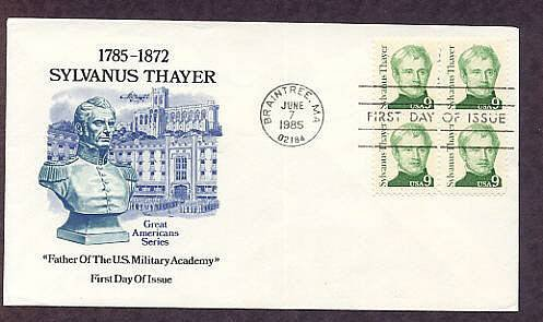 Honoring Sylvanus Thayer Academy, Father of the U.S. Military Academy, First Issue USA