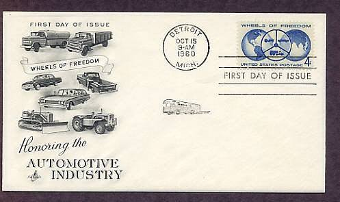 Honoring the Automotive Industry, Wheels of Freedom, 1960 AC First Issue USA