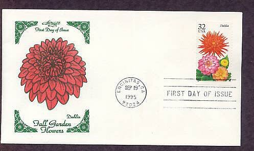 Dahlias, Grown by Enthusiasts Worldwide, 1995 First Issue USA