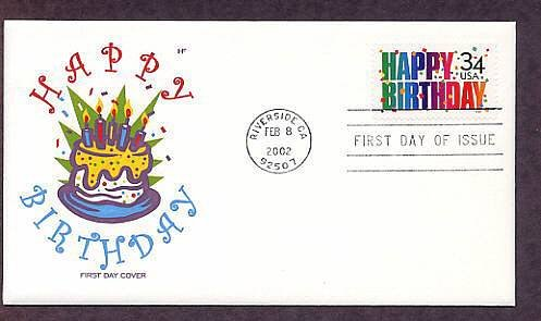 United States Happy Birthday Postage Stamp, First Issue USA