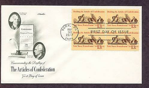 Bicentennial Drafting the Articles of Confederation, AM First Issue USA