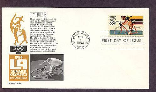 Summer Olympics, 1984, Cycling, Aristocrat First Issue USA
