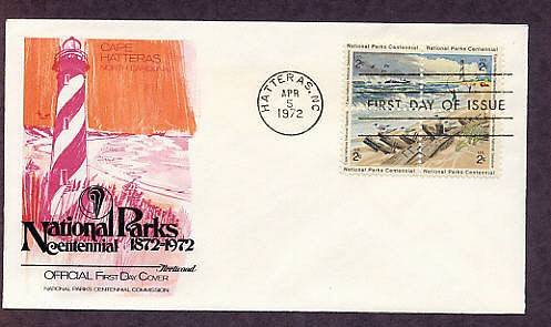 Cape Hatteras Lighthouse National Park, North Carolina, FW First Issue 1972 USA