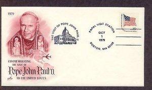 Pope John Paul II Visit to Boston, Massachusetts, October 1, 1979, USA