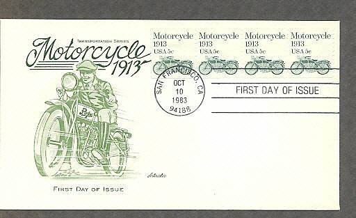1913 Pope Motorcycle, AM First Issue USA
