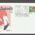 Wild Animals, Flamingo, Phoenicopterus ruber, First Issue USA