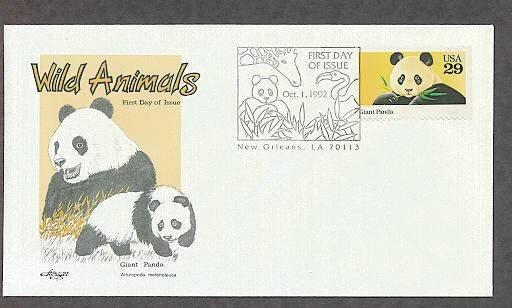 Giant Panda Bear, Ailuropoda melanoleuca, AM First Issue USA