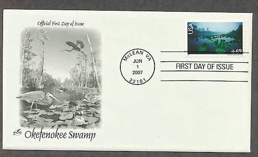 National Wildlife Refuge, Okefenokee Swamp, Georgia/Florida, 2007 First Issue USA