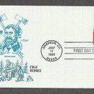 Folk Heroes, Legendary Lumberjack Paul Bunyan, Babe the Blue Ox, First Issue USA ,