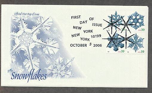 Snowflakes, 2006 First Issue USA