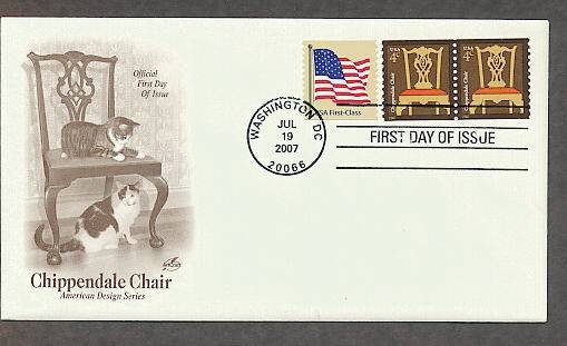 Chippendale Chair, Cats, First Issue USA